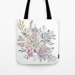 succulent watercolor 8 Tote Bag
