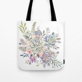 succulent watercolor 8 Tote Bag
