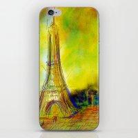 eiffel iPhone & iPod Skins featuring Eiffel by Alexandre Reis