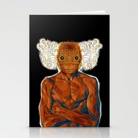 demon Stationery Cards featuring Demon by Rofi