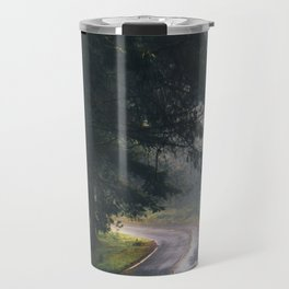 GREY - CONCRETE - ROAD - DAYLIGHT - JUNGLE - NATURE - PHOTOGRAPHY Travel Mug