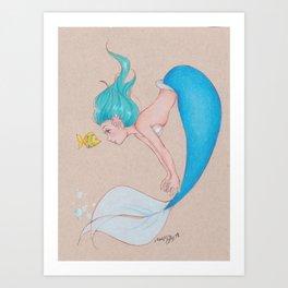 Mindy Mermaid Art Print