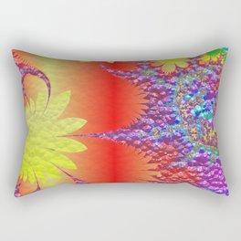 Floral Fractal 01 Rectangular Pillow