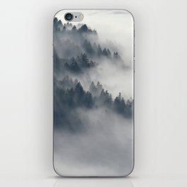 Fog in the forest iPhone Skin