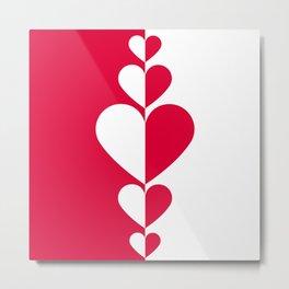 Heart modern creative background design #society6 #decor #buyart #artprint Metal Print