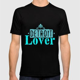 Detroit lover | Michigan logo Lettering T-shirt