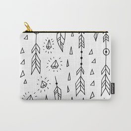 Diamonds, arrows & feathers Carry-All Pouch