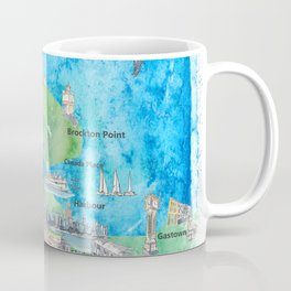 Vancouver British Columbia Canada Travel Poster Favorite Map Coffee Mug