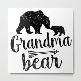 Grandma Bear Mothers Day Gift Metal Print