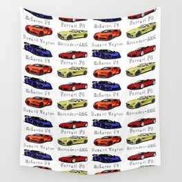 Sports cars BEST SELLER Wall Tapestry
