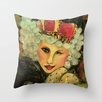 royal Throw Pillows featuring Royal by Liz Atmore-Vitols