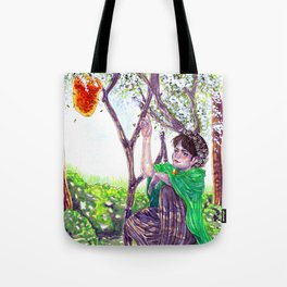 The Hawthorn Tree sign Tote Bag
