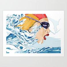 The Swimmer Art Print