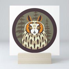 Long-eared Owl Mini Art Print