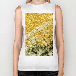 GOLDEN LACE FLOWERS FROM SOCIETY6 BY SHARLESART. Biker Tank