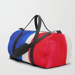 Mid Century Modern Retro Minimalist Colorful Shapes Phthalo Blue Red Rothko Pebbles Duffle Bag