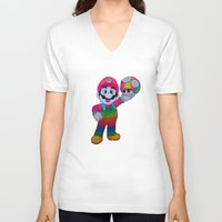mario bros V-neck T-shirts featuring Mario Bros by Luna Portnoi