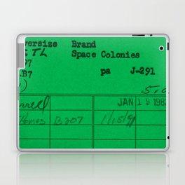 Library Card 797 Green Laptop & iPad Skin