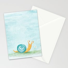 Cute snail Stationery Cards