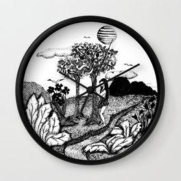 The Garden - Black Wall Clock
