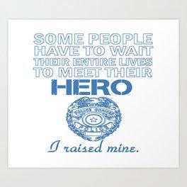 Police Officer's Mom Art Print