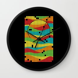 Music in the Sunset Wall Clock
