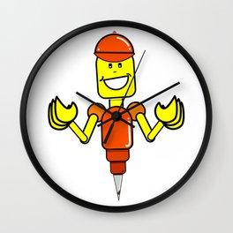 Doug The Digger Robot Wall Clock