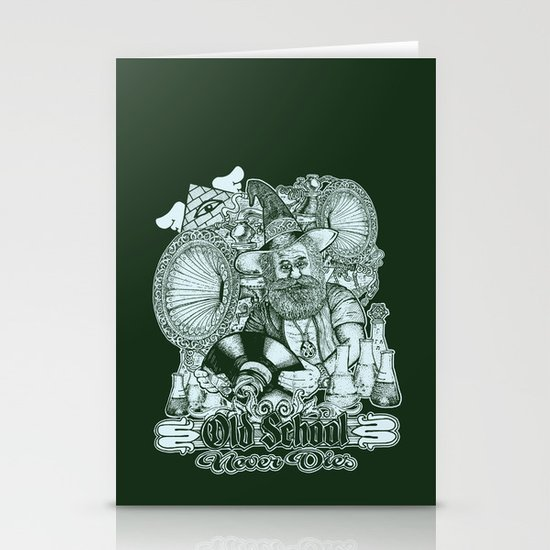 Old School Never Dies Stationery Cards