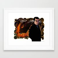 crowley Framed Art Prints featuring Crowley by Catus