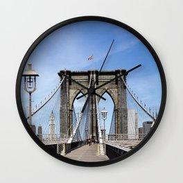 New York City Brooklyn Bridge USA - Wall Clock
