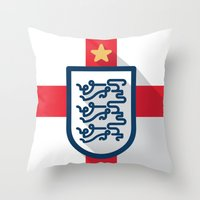 england Throw Pillows featuring England Minimal by Daniel Nyari