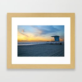 Kick back. Framed Art Print