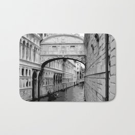 The Bridge of Sighs in Venice Italy Travel Bath Mat