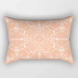 Tie-Dye in Peach / Boho Abstraction Rectangular Pillow