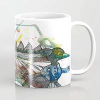 wings Mugs featuring Wings by Dawn Patel Art