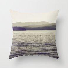 Vintage Lake Throw Pillow