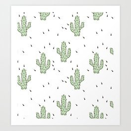 Cactuses abstract modern print simple Art Print