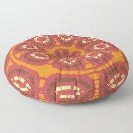 Dark red abstract Floor Pillow