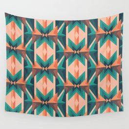 Low Poly Desert Bloom Wall Tapestry