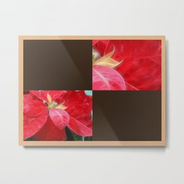 Mottled Red Poinsettia 2 Blank Q3F0 Metal Print