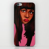 nicki iPhone & iPod Skins featuring Watch the queen conquer by Papa-Paparazzi