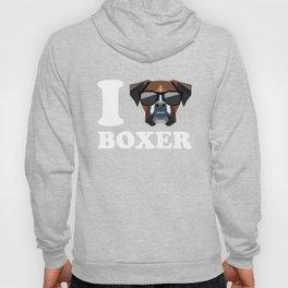 I Love Boxer modern v2 Hoody