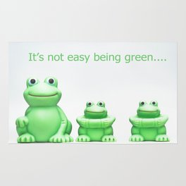 Its not easy being green Rug