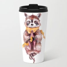 Raccoon meditates Travel Mug