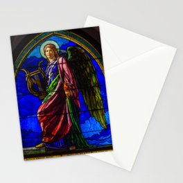 """John La Farge """"The Angel Holding a Lyre (or The Harpist)"""" window Stationery Cards"""