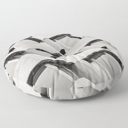 Modernistic Architectural Pattern Floor Pillow