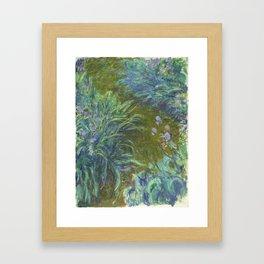 Irises by Claude Monet Framed Art Print