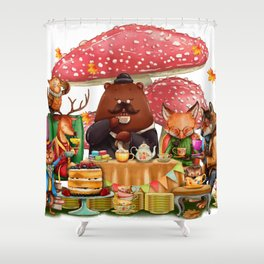 Autumn tea party #3 Shower Curtain
