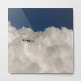 Plane and clouds Metal Print