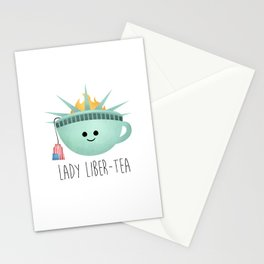 Lady Liber-tea Stationery Cards